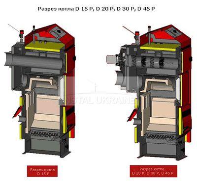 Пеллетный котел Atmos D 20 P без горелки, шнека, бункера цена
