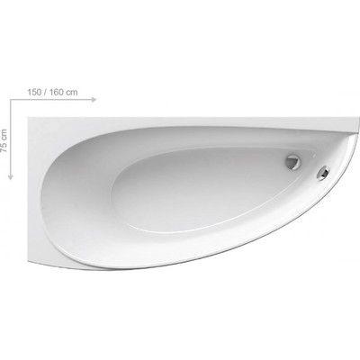 Акриловая ванна Ravak Avocado 160 x 75 L левосторонняя цена