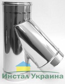 ТРОЙНИК из нержавеющей стали с термоизоляцией в оцинкованной стали 45 град; 0,8 мм ф300/420
