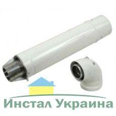 Комплект для горизонтального прохода через стену 750 мм с точкой отбора, 60/100 мм ( турбо) (0020199379)