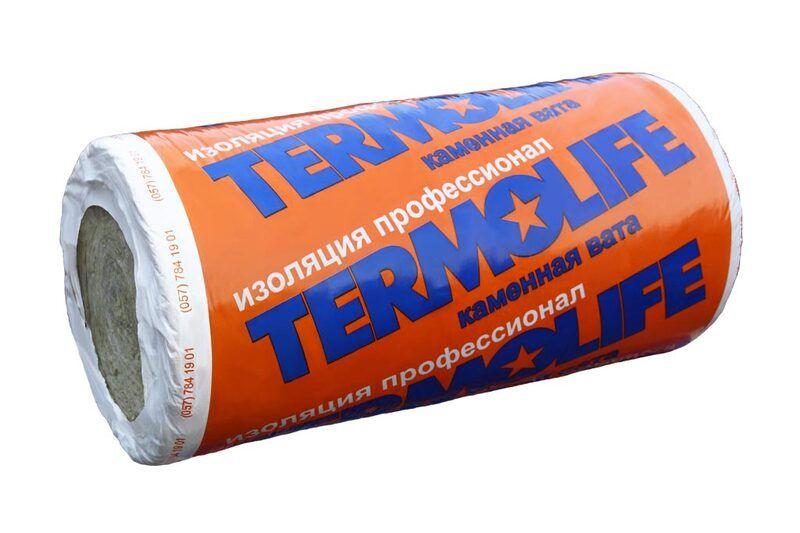 Теплоизоляционная вата TERMOLIFE РУЛОН 35 100 мм. для инженерных систем плотность (35 кг/м3)