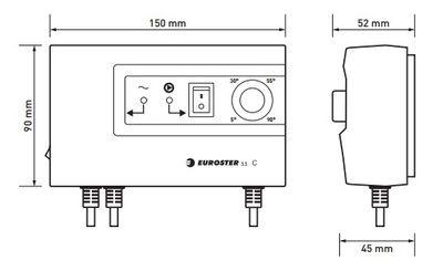 Euroster 11C Термоконтроллер управление насосом, система Антистоп с выносным датчиком температуры цена
