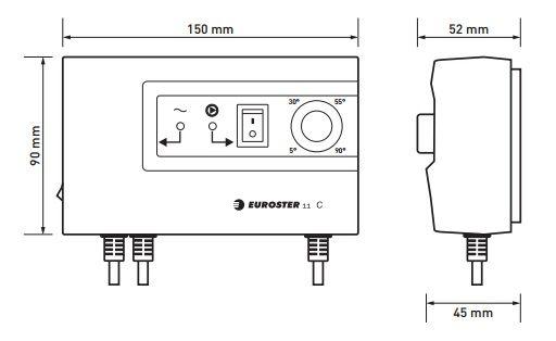 Euroster 11C Термоконтроллер управление насосом, система Антистоп с выносным датчиком температуры