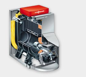 Газовый котел Viessmann Vitorond 100 27 кВт с Vitotronic 200 (с газовой горелкой) цена