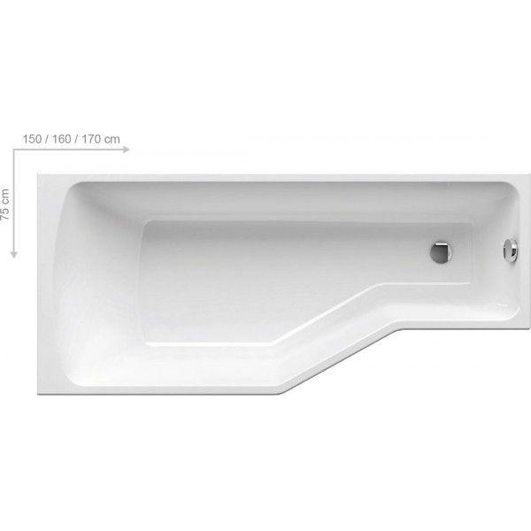 Акриловая ванна Ravak BeHappy 170 x 75 L левосторонняя
