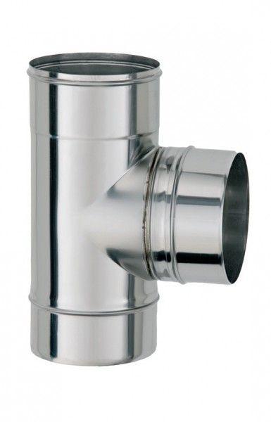 ТРОЙНИК из нержавеющей стали с термоизоляцией в оцинкованной стали 90 град; 0,8 мм ф220/280