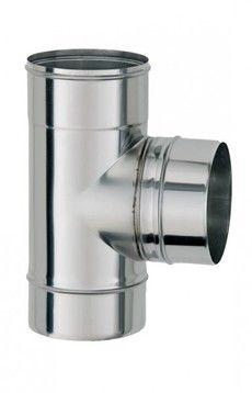 ТРОЙНИК из нержавеющей стали с термоизоляцией в оцинкованной стали 90 град; 0,5 мм ф100/160