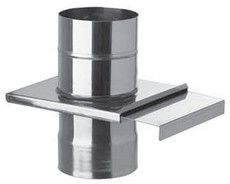 Шибер 0,8 мм из нержавеющей стали (AISI 321) с термоизоляцией в нержавеющем кожухе (AISI 321) ф125/185