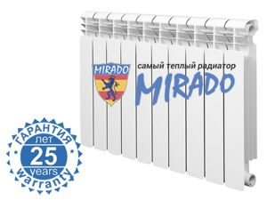Радиатор биметаллический Mirado 300/ 85мм цена
