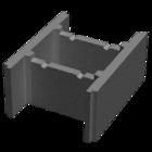 купить Бетонный блок несъемной опалубки М-100 (510х400х235)