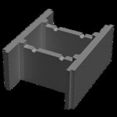 Бетонный блок несъемной опалубки М-100 (510х400х235)