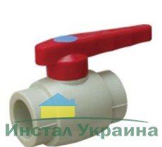 TEBO VT.743 Полипропиленовый Кран шаровый для ГВ PPR 20