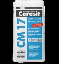 Ceresit СМ 17 Высокоэластичная клеящая смесь Super Flexible (25 кг.)