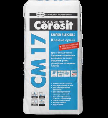 Ceresit СМ 17 Высокоэластичная клеящая смесь Super Flexible (25 кг.) цены