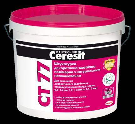 Ceresit CT 77 цвет 18D Мозаичная штукатурка 08-1,2 мм