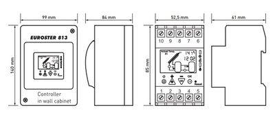 Euroster 813 Соларный термоконтр.отслеж.темп.солнечного коллектора и до 2 баков-акк., 3 датчика темп.  цена