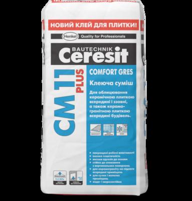 Ceresit СМ 11 Plus Клеящая смесь для плитки Comfort Gres (5 кг.) цена