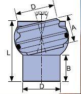 WAVIN EKOPLASTIK Муфта регулируемая +/- 150 для седловых патрубков; 160 (3264594316) для наружной канализации