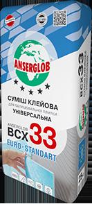 """Anserglob ВСХ-33 """"ЗИМА"""" Клеевая смесь для плитки"""