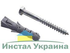 Дюбель 10х115 распорный рамный (нейлон) с шурупом шестигранником