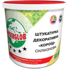 купить Anserglob Силиконовая белая декоративная штукатурка короед зерно 2,5 мм.