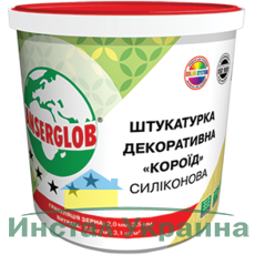 Anserglob Силиконовая белая декоративная штукатурка короед зерно 2 мм.
