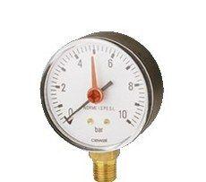 Cewal Манометр c индикатором Д63 1/4 R 6 бар вертикальный