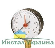 Cewal Манометр c индикатором Д63 1/4 R 10 бар вертикальный