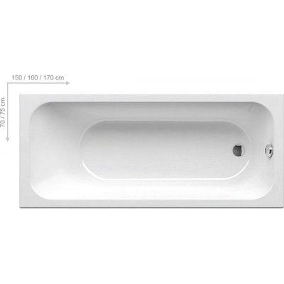 Акриловая ванна Ravak CHROME 150x70 белая цены