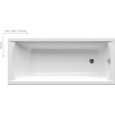 Акриловая ванна Ravak CLASSIC 160x70 N цена