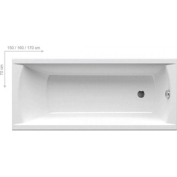 Акриловая ванна Ravak CLASSIC 160x70 N