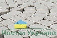 Тротуарная плитка Старая площадь 300х300 (белый) для пешеходной зоны (4 см)