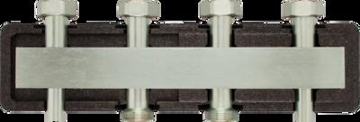 Коллектор для трех насосных групп c встроенным гидравлическим разделителем AFRISO KSV 125-3 HW (77622) цена