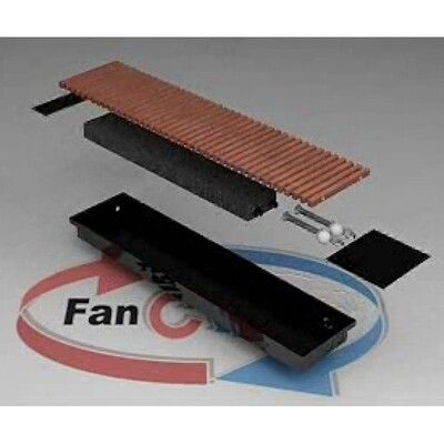 FanCOil внутрипольный конвектор FC 75 MINI длина 2750мм цена
