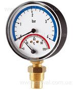купить Cewal Термоманометр Д80 1/2 R 4 бар вертикальный