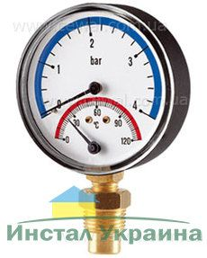Cewal Термоманометр Д80 1/2 R 6 бар вертикальный