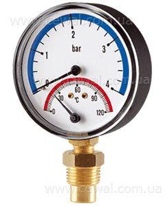 Cewal Термоманометр Д80 1/2 R 6 бар вертикальный цена