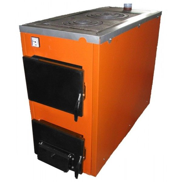 Твердотопливный котел ТермоБар АКТВ -20 с плитой (2 комф.)