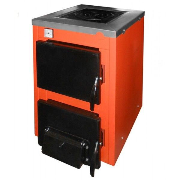 Твердотопливный котел ТермоБар АКТВ -12 з плитою (1 комф.)