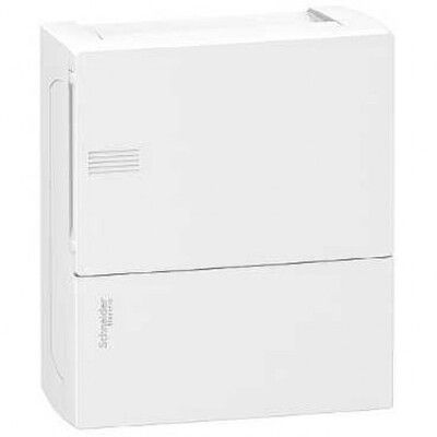 Schneider electric Щит навесной MINI PRAGMA 1 ряд 8 модулей белые двери (MIP12108) цена