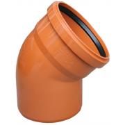 Valrom Колено ПВХ 250/15 для наружной канализации