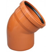 Valrom Колено ПВХ 110/67 для наружной канализации