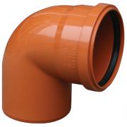 Valrom Колено ПВХ 200/87 для наружной канализации