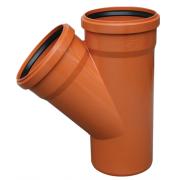 Valrom Тройник ПВХ 200*200/87 для наружной канализации цены