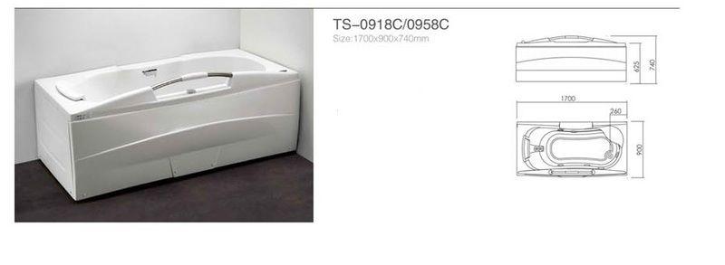 Акриловая ванна Appollo TS-0918С/TS-0958C 1700 x 900 x 740