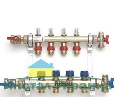 REHAU распределительный коллектор HKV-D 11 с расходомерами, выходы 11