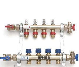 REHAU распределительный коллектор HKV-D 12 с расходомерами, выходы 12