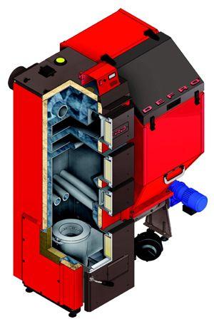 Твердотопливный котел Defro DUO 75 кВт