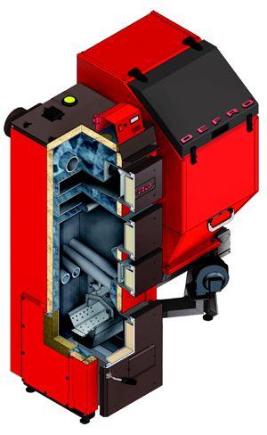 Твердотопливный пеллетный котел Defro DUO UNI 15 кВт