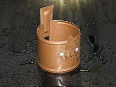HyPro Держак водосточной трубы (винт) ф 90 Матовая поверхность 9005 черный